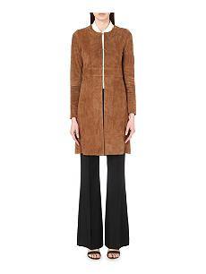 THEORY Alvington Benna leather coat