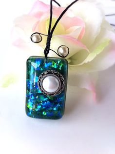IFgal retro opal vintage inspired charm necklace by IFgal on Etsy, $20.00
