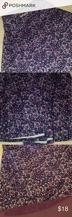 Skater Skirt Cute, floral skater skirt. Stretchy material. Bought at Charlotte Russe. Very good condition, only worn once! Charlotte Russe Skirts Circle & Skater