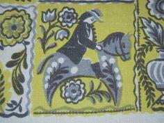 Vintage Tablecloth Fun Swedish Folk by unclebunkstrunk, $27.99