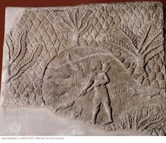 Stone relief from the palace of Sennacherib. Fishing in a lake.  Culture: Assyrian. Date/Period: Late Assyrian c.700 BC. Place of Origin: Nineveh, Assyria, Ancient Iraq. Material Size: Stone. Credit Line: Werner Forman Archive/ British Museum, London . Location: 13.