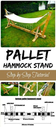 Pallet Hammock Stand - 150 Best DIY Pallet Projects and Pallet Furniture Crafts - Page 47 of 75 - DIY Crafts