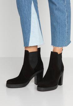 Esprit THERESA - Bottines à talons hauts - black - ZALANDO.FR Zalando Shoes, Black Noir, Ankle, Fashion, Ankle Boots, Heels, Leather, Tops, Spirit