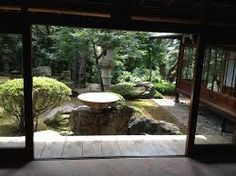 Stunning View Of The Garden Tokyo Urban Baby Traditional Japanese - Choosing fieldstone tile for interior walls Japanese Home Design, Traditional Japanese House, Japanese Water Gardens, Garden Diy On A Budget, Garden Ideas, Inside Garden, House Inside, Tiny House, Japanese Architecture