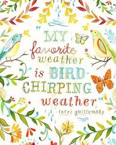 Bird-chirping weather