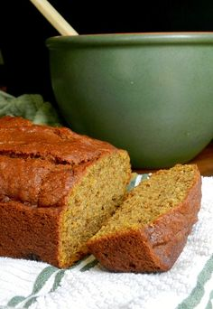 Pumpkin spice bread--to bake at a later date.