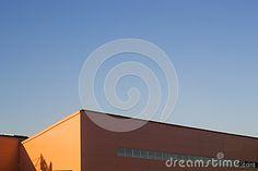 Minimalistic Urban Outdoor, Orange Industrial Pavilion #outdoor #INDUSRTIAL #sky #photography #dreamstime #stockphoto #urban #minimalistic