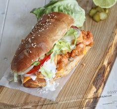 Fried Shrimp Sandwich Recipe | MongolianKitchen.com