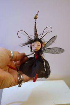 ooak poseable BUG pixie Fairy 33 elf polymer by DinkyDarlings