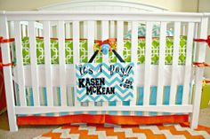 Project Nursery - Kasen nursery  This was featured on Project Nursery's Facebook page.  I made the bedding for my grandson's room.