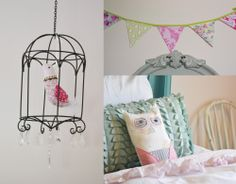 This blog has several cute DIY tutorials for decorating a girl's room.