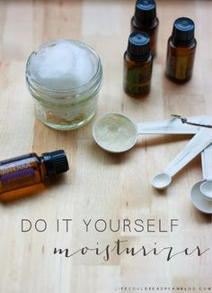 DIY Miracle Moisturizer - Life Could Be a dream http://www.mydoterra.com/melechternach