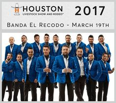 #HoustonRodeo March 19th 2017  Playing Today... Traveling from Mazatlán Mexico Banda El Recodo brings more than seven decades of experience to the Houston Rodeo stage. This will be their debut performance at the rodeo. Their top songa are... El Sinaloense Te Voy A Olvidar Tu Recuerdo Y Yo Mi Yaquesita and La Puerta Negra.  Let us know if you're going tonight (or wish ou were going) and check back tomorrow and tell us how it was. Can't wait to hear :)