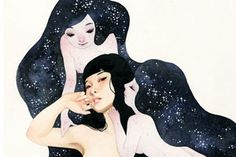 Pasadena, CA-based illustrator Soey Milk has a flair for the dark and the romantic, depicting lovely young women in various erotic configurations. Soey's delicate graphite sketches and detailed oil paintings of doe-eyed ladies create a unique narrative world that is at once tender and strange.