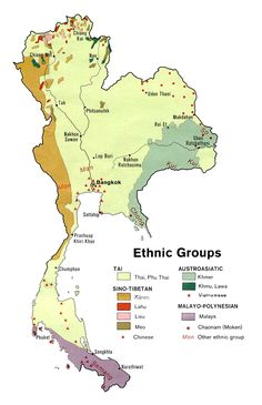 Ethnolinguistic groups of Thailand 1974 - Ethnic groups in Thailand - Wikipedia