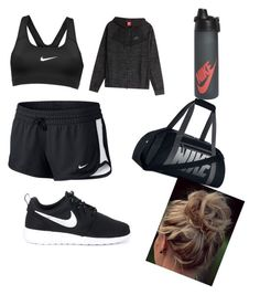 """ɴɪᴋᴇ ✔️WORKOUT OUTFIT"" by crazyandstupid12 on Polyvore featuring NIKE"