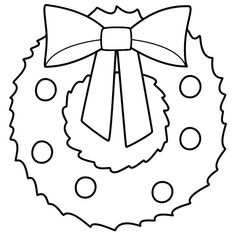 This Christmas Wreath Coloring Page Features A Picture Of Large To Color For The Is Printable And Can Be Used In