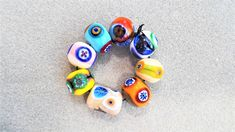 Decorative Murrini Lampwork Glass Bead set by bdenglass on Etsy