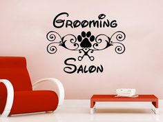Wall Decal Grooming Salon Vinyl Sticker Decals Petshop Animals Decor The size of the decal is x We also make custom sizes. Just contact us first, beca Dog Grooming Salons, Grooming Shop, Boys Bedroom Decor, Nursery Room Decor, Salon Design, Art Design, Creative Grooming, Animal Decor, Butterfly Wall