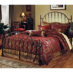 Tyler Iron Bed in Antique Bronze by Hillsdale Furniture