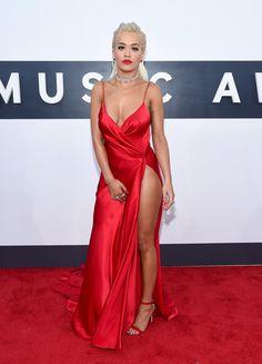 Rita Ora in a Donna Karan Atelier dress at the MTV VMAs.