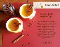 YOLO Colorhouse Recipe Color Card: Festive Fall Apple Cups
