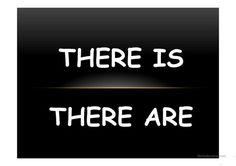 There isThere are