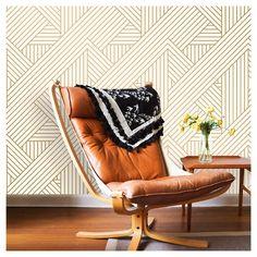 Devine Color Ribbon Peel and Stick Wallpaper - Lightning and Karat : Target
