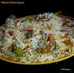 Niyaaz biryani is a very famous type of biryani which is very flavouful ,delicious with less masala in it……. This biryani you get only in Belgaum ,Gokak, kolhapur ,Goa and recentl…