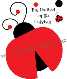 Pin the Spot on the Ladybug Birthday Party by MintMonkeyDesign, $4.99
