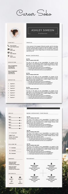 Resume Template Resume Design Resume Cover Letter 2 Page Resume Template CV Minimalist Resume CV Template Curriculum Vitae CV Design Resume Template Word Free Resume Template Modern Cv Template, Resume Design Template, Resume Template Free, Design Resume, Free Resume, Resume Cv, Free Cv Template, Professional Cv Template Free, Creative Cv Template