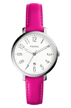 This totally cute Fossil watch is the perfect way to add a daily pop of pink to the work week looks. Gotta pick this up from the Anniversary Sale.