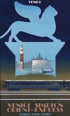 Pierre Fix-Masseau Orient Express poster   #TuscanyAgriturismoGiratola