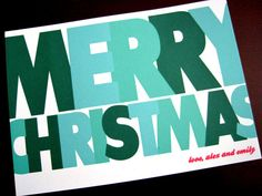 christmas cards by modern ink stationery