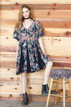Completely sheer this floral swing dress is a festival must have!!