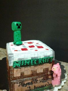 Minecraft cake https://www.facebook.com/roartasticdesserts/