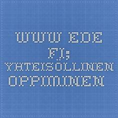 www.ede.fi; Yhteisöllinen oppiminen.... Tech Companies, Company Logo, Teacher, Logos, School, Tips, Professor, Teachers, Logo
