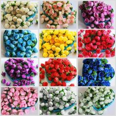 50X 100X 500X Roses Artificial Silk Flower Heads Wholesale Lots Wedding Decor   eBay