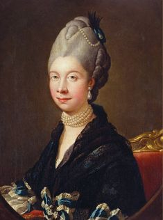 PRINCESS CHARLOTTE, DUCHESS MECKLENBURG-STRELITZ (b.1744-d.1818). QUEEN CONSORT OF GEORGE III from 8th September, 1761 until her death on 17th November, 1818. HOUSE OF HANOVER. PICTURE: Portrait of Queen Charlotte, c.1775. After Johann Zoffany.