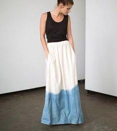 Shoreline Indigo Maxi Skirt