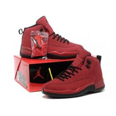 f43771b35b06 Nike Air Jordan 12 XII Men Shoes in Red and Black with Nice Box