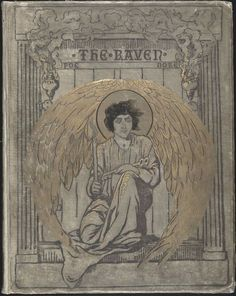 Gustave Doré     Book-cover design for Edgar Allan Poe's The Raven, first published in January 1845