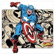 Captain America Retro Wall Art Poster