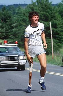 Terry Fox running a marathon for charity on Lisa Loves Life Lessons Fox Running, Hamilton Pictures, Canadian Things, Canada Eh, Beat Cancer, Marathon Running, Celebrity Portraits, Personal Photo, Love Life