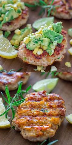 Very easy to make, yet so tender and tasty, these Chicken Burgers with Avocado S. Very easy to make, yet so tender and tasty, these Chicken Burgers with Avocado Salsa are going to be loved by everyone! Make these chicken burgers for lunch or dinner. Gourmet Recipes, Low Carb Recipes, Cooking Recipes, Healthy Recipes, Recipes Dinner, Dinner Recipes With Avocado, Cooking Joy, Thai Cooking, Easy Recipes