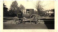 PHOTO OF A CARRIAGE IN WHICH LAFAYETTE IS SAID TO HAVE RIDDEN FROM SOMERTON, VIRGINIA TO MURFREESBORO, NC., Feb. 1825.  Image circa 1920-1938