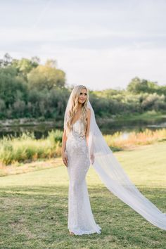 """From the editorial """"From 400 Guests to 10, This Wedding Still Turned Out to Be Completely Epic!"""" We're loving everything about this bride's look! Head to SMP.com to read more about why she chose to get two wedding dresses!  Gown: @miabellathelabel  #bride #weddingdress #weddinggown #bridedress #brideinspo Crystal Wedding Dresses, Second Wedding Dresses, Lace Beach Wedding Dress, Muslim Wedding Dresses, Garden Wedding Dresses, Wedding Dresses With Flowers, Luxury Wedding Dress, Classic Wedding Dress, Princess Wedding Dresses"""
