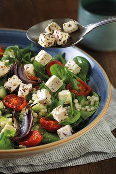 Vegan Recipes Videos, Vegan Lunch Recipes, Salad Recipes For Dinner, Dinner Salads, Healthy Salad Recipes, Dog Food Recipes, Mozzarella, Superfood Salad, Feta