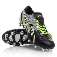 Asics Men\u0027s Lethal Warno ST2 Soccer Shoes Black/Grass/Silver 10