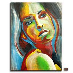 BÜTTNER abstrakt Acryl Gemälde BILD Portrait Frau Leinwand UNIKAT XXL in Antiquitäten & Kunst, Direkt vom Künstler, Bildende Kunst   eBay